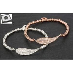 Equilibrium SP RGP Diamante Leaf Bracelet