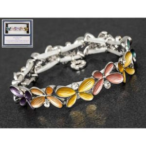 Equilibrium Multi Colour Butterfly Slim Bracelet