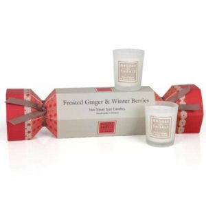 Christmas Cracker Frosted Ginger & Winter Berries – 2 Travel Candles