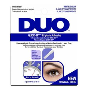 DUO Quick Set Striplash Adhesive white clear (7g)