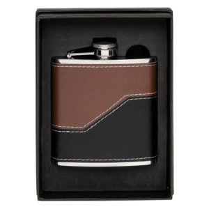 Hip Flask Brown Black 6oz