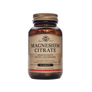 Solgar Magnesium Citrate Tablets (60)