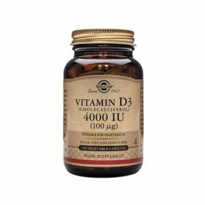 Solgar Vitamin D3 (Cholecalciferol) 4000IU (100µg) Capsules (60)