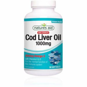 Natures Aid Cod Liver Oil 1000mg Softgels (90)