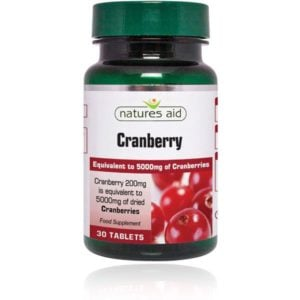 Natures Aid Cranberry 200mg Tablets (90)