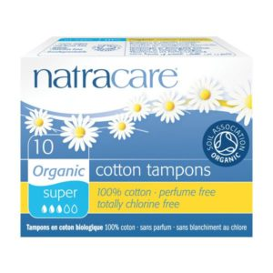 Natracare Organic Cotton Super Tampons (Non-Applicator)