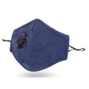 Navy Cotton Face Mask with valve PM 2.5 KN 95  (includes 2 filters)