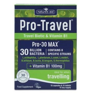 Natures Aid Pro Travel (30 Billion Bacteria) Capsules & Tablets (15+15)